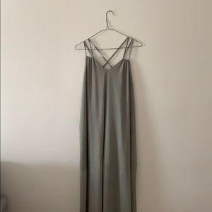 Tobi green maxi dress size M